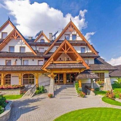 Polské Tatry v luxusním Hotelu Toporow Style *** s neomezeným wellness, bazénem a fitness + polopenze