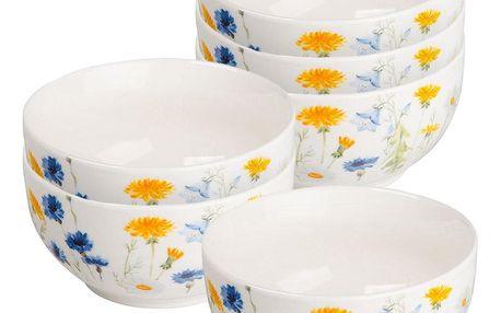 Altom Sada porcelánových misek Spring, 12,5 cm, 6 ks