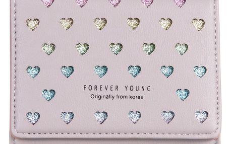Forever Young Dámská peněženka menší srdíčka