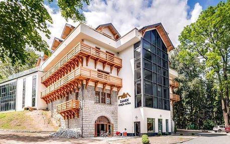 Bývalý hrad v polských Krkonoších: jídlo, wellness