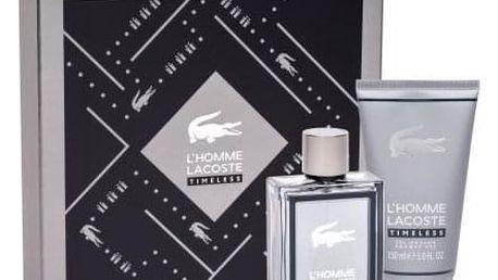 Lacoste L´Homme Lacoste Timeless dárková kazeta pro muže toaletní voda 100 ml + sprchový gel 150 ml