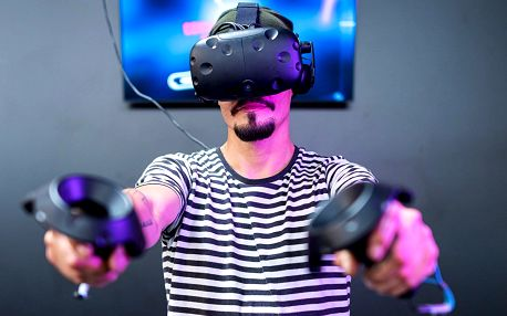 30 nebo 60 min. ve virtuální realitě pro 1–2 hráče