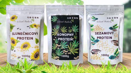 Rostlinné proteiny: konopný, mandlový i sezamový