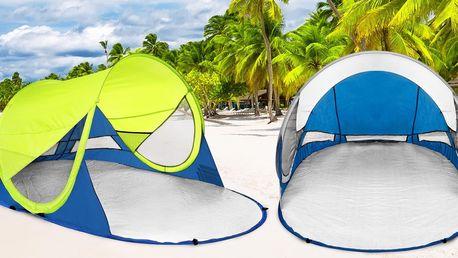 Samorozkládací plážový paravan proti slunci a větru
