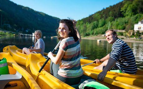 Rodinná vodácká dovolená na Labi v Českém Švýcarsku od Active pointu