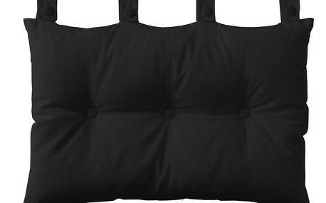 TODAY TODAY Závěsný polštář k posteli 70x45 cm Reglisse - černá