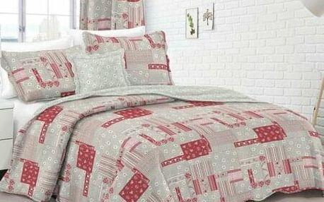Dakls přehoz na postel Country stil růžová