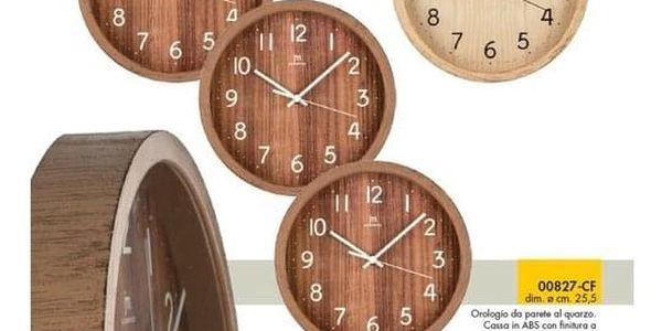 Lowell 00827N Designové nástěnné hodiny pr. 25 cm2