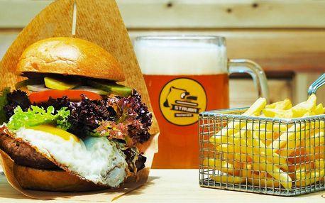Burgerová mánie: 1, 2 i 4 burgery a hranolky