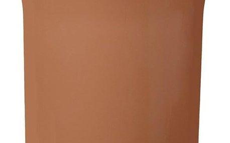 Aldotrade Pedálový odpadkový koš Dust Bin 8,1 l, hnědá