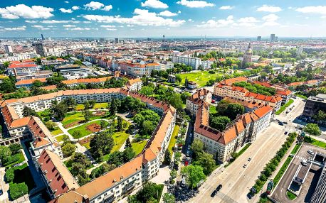 Špičkový Holiday Inn ve Vídni s úžasným výhledem
