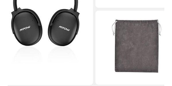 MPOW H10 - bezdrátová sluchátka, černá5