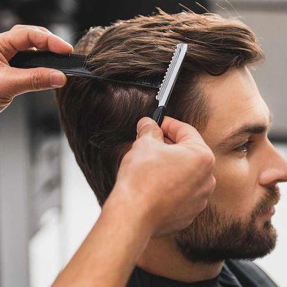 Pánský střih včetně masáže hlavy a úpravy vousů