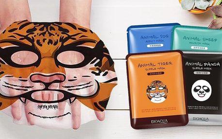 Vyživující pleťové masky s obrázky zvířat: 4 druhy
