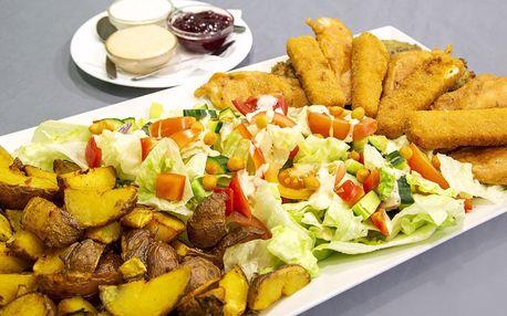 Masovo-sýrový talíř a opečené brambory pro 3 os.