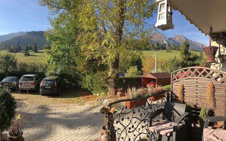 LAST MINUTE v penzione Šilon v Ždiari s výhledem na Tatry