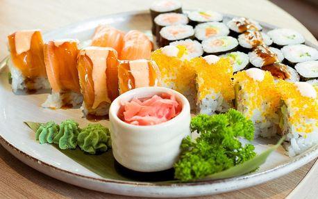 26 kousků sushi v moderním bistru v pasáži Alfa