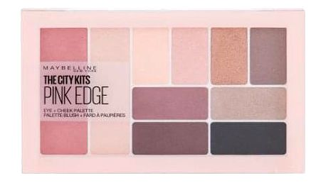 Maybelline The City Eye + Cheek Palette 12 g paletka očních stínů, rozjasňovačů a tvářenek pro ženy Pink Edge