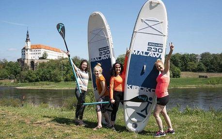 Paddleboarding na Labi v Českém Švýcarsku od Active pointu