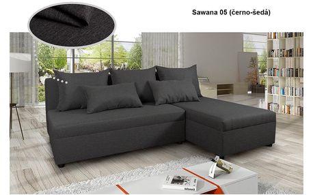 Rozkládací rohová sedací souprava Pono, Sawana 05 (barva potahu), pravá
