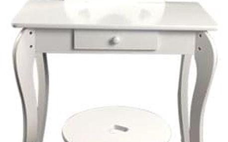 Dětský kosmetický stolek se zrcadlem Elza, 68 x 40 x 106,5 cm
