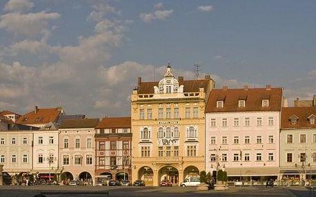 5* luxusní víkend přímo na historickém náměstí v Č.Budějovicích