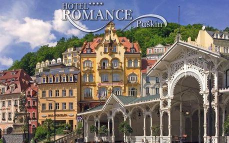 Romantický víkend pro dva se snídaní v Karlových Varech.