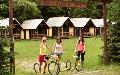Ubytování v chatkách pro až 4 osoby kempu Božeňov poblíž přehrady