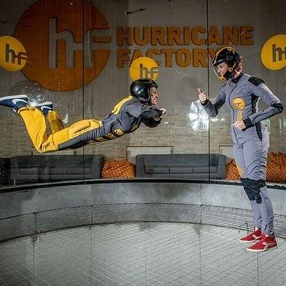 Indoor skydiving se záznamem na USB