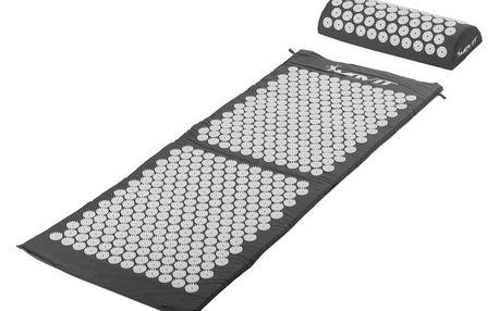 Movit Akupresurní podložka s polštářem 130 x 50 cm šedá