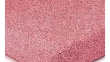 4Home Froté prostěradlo růžová, 160 x 200 cm