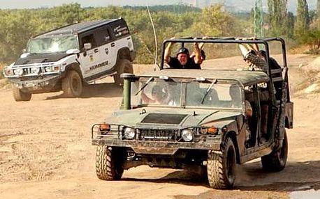 Řízení Hummeru H2 + adrenalinová jízda vojenským Humvee