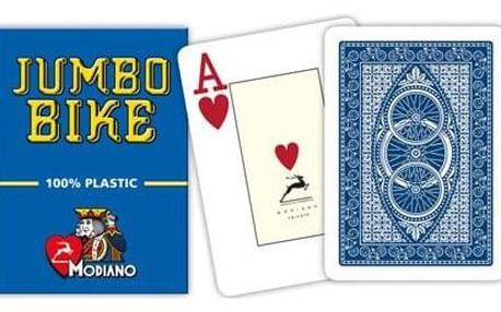 Modiano BIKE TROPHY 31302 100% plastové karty 2 rohy - Modré