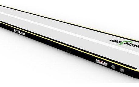 Airtrack MASTERJUMP nafukovací žíněnka 600 x 100 x 20 cm - šedá - černá