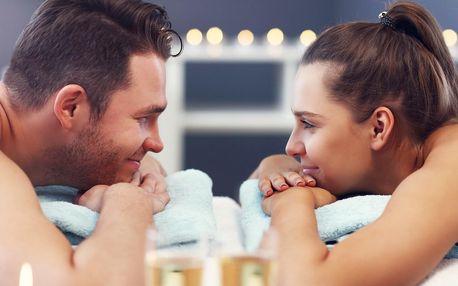 Párové hýčkání: masáž, vířivka, sauna, sekt a ovoce