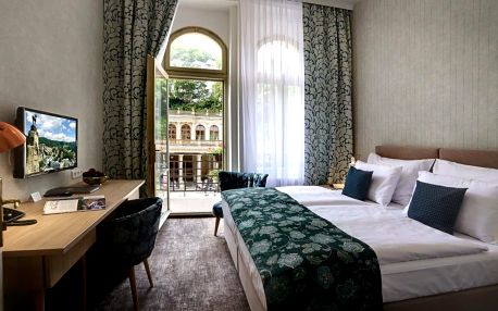 Ozdravný lázeňský pobyt pro dva v Karlových Varech s polopenzí, wellness a lázeňskými procedurami v hotelu na kolonádě