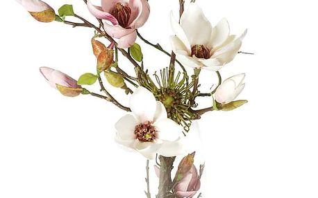 Umělá květina Magnolie ve skleněné váze, 71 cm