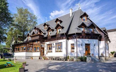 Vysoké Tatry: Pobyt přímo pod Lomnickým štítem v Penzionu Encián s wellness a polopenzí
