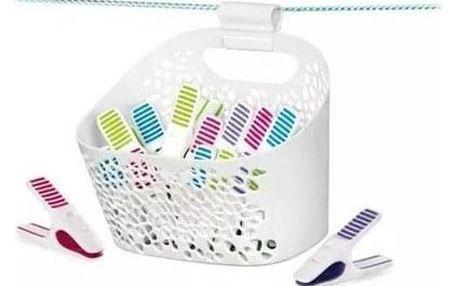Tescoma Kolíčky na prádlo v košíku CLEAN KIT, 20 ks