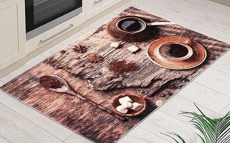 Bellatex Kusový koberec Káva 3D, 80 x 120 cm