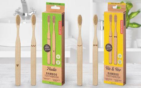 Bambusové kartáčky s designem pro muže i ženy
