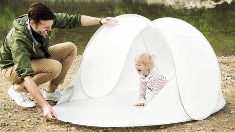 Samorozkládací outdoorový paravan proti slunci a větru