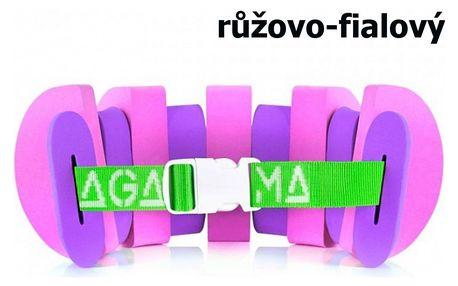 Plavecký pás AGAMA Swim 13 dílů - růžovo-fialový