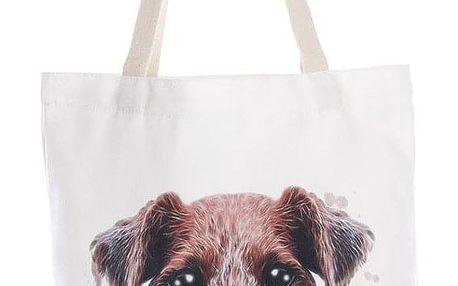 Fashion Icon Módní textilní taška Sweet pejsek bavlněná