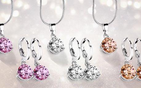 Elegantní sady šperků se třpytivými zirkony