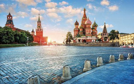 Rusko - Moskva letecky na 4 dny, snídaně v ceně