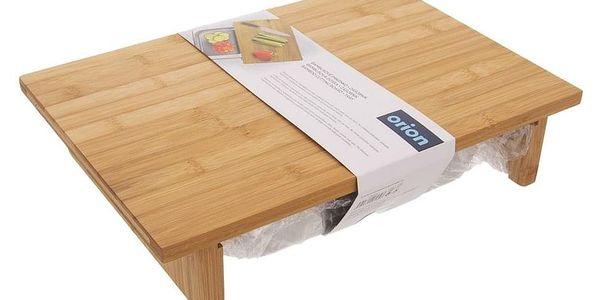 Prkénko bambus 42x29 cm+zásobník nerez3