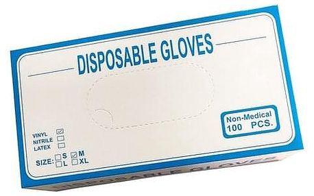 Jednorázové vinylové rukavice M
