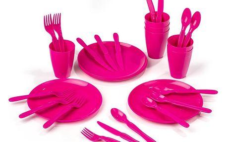 Sada plastového nádobí Piknik, 31 ks,