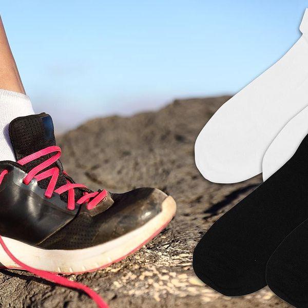 15 párů kotníčkových ponožek pro pány i dámy